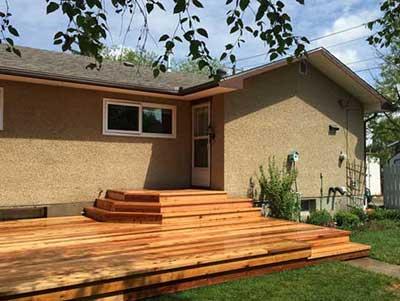 outdoor cedar deck renovation red deer