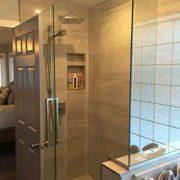 standup shower glass doors ensuite red deer bathroom renovations