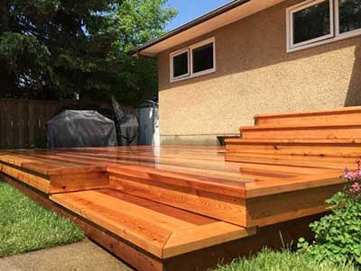 outdoor cedar deck renovation red deer