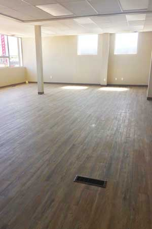 interior yoga studio commercial renovation stettler alberta commercial renovations