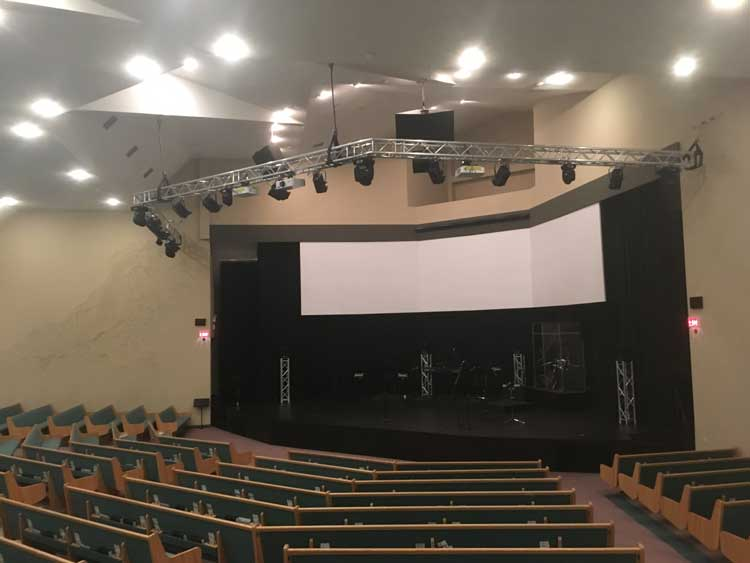 livingstones completed auditorium of church commercial renovations in red deer