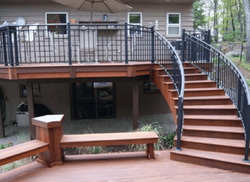 outdoor deck and staircase