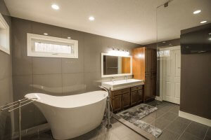 luxury bathroom remodel Renovations Red Deer | Homestead Custom Carpentry